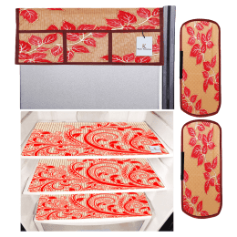 Kuber Industries Mat and Cover For Refrigerator (Easily Hand Washable, CTKTC033657, Red)_1
