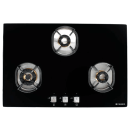 Faber Nexus 3 Burner Toughened Glass Built-in Gas Hob (Auto Ignition, IND HT783 CRS BR CI AI, Black)_1