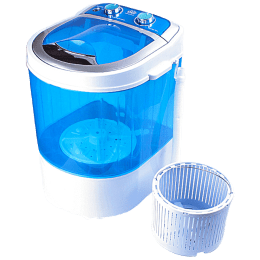 DMR 3.0 Kg Semi-Automatic Top Load Mini Washing Machine (With Dryer Basket, DMR 30-1208 Blue, Blue)_1