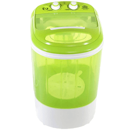 DMR 2.5 Kg Semi-Automatic Top Load Mini Washing Machine (With Dryer Basket, DMR 25-1208 Green, Green)_1