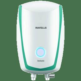 Havells Instanio 3 Litres Instant Water Geyser (3000 Watts, GHWAIAPWB003, White/Blue)_1