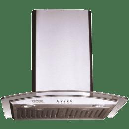 Hindware Lara Neo 60 1100 m³/hr 60 cm Designer Chimney (515471, Inox)_1