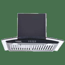 Hindware Kylis Neo 60 1100 m³/hr 60 cm Designer Chimney (Stainless Steel Baffle Filter, 515518, Black)_1