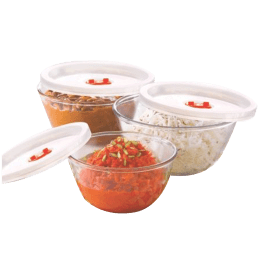 Borosil 1.3 litres Glass Mixing Bowl with Lid (Microwavable Serveware, IH22MB05213EC, Transparent) _1
