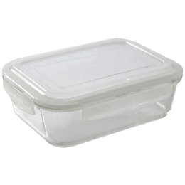 Borosil Klip-N-Store Container For Microwave Oven, Refrigerator and Dishwasher (Made of Borosilicate Glass, IYKLSRTC104, Transparent)_1