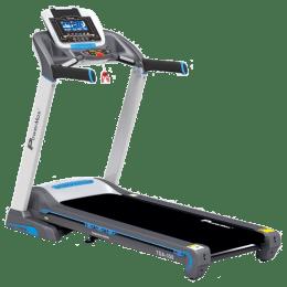 PowerMax MaxTrek 6 HP Foldable Motorized Treadmill (Hydraulic Soft-drop System, TDA-350, Blue/Grey)_1
