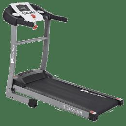 PowerMax MaxTrek 3.5 HP Foldable Motorized Treadmill (Anti-Bacterial Powder Coat Finish, TDM-98, Grey/Black)_1