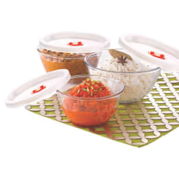 Borosil 500ml, 900ml and 1.3L Glass Set of 3 Mixing Bowls with Lid (IH22MBN6913EC, White)_1