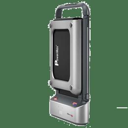 PowerMax Jogpad-5 5 HP Foldable Motorized Treadmill (Subtle Remote Control, Silver/Black)_1