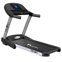 PowerMax UrbanTrek 4 HP Foldable Motorized Treadmill (Hydraulic Softdrop System, TD-M1, Grey/Black)_1