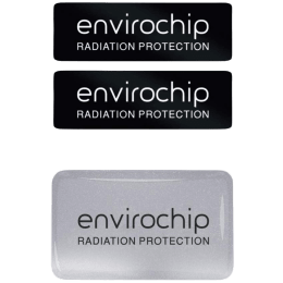 Environics Envirochip Anti Radiation Chip for Mobile and Smart TV (Pack of 2, 124CLGTP, Black/Silver)_1