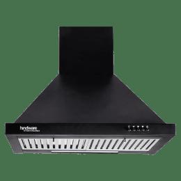 Hindware Jupiter Neo BLK 60 1000 m³/hr 60 cm Designer Chimney (515189, Black)_1