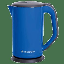 Wonderchef Luxe 1.7 Litres 1800 Watts Electric Kettle (Detachable Base, Dry Boiling Protection, 63153291, Blue)_1