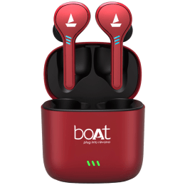 Boat Airdopes 433 In-Ear Truly Wireless Earbuds with Mic (Bluetooth 5.0, Inline Remote, Red)_1