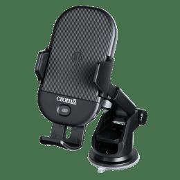 Croma 15 Watts Car Charging Adapter (Air Vent Clamp, CRCA2306, Black)_1