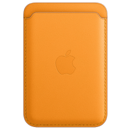 Apple MagSafe Leather Back Case For iPhone 12 Pro, iPhone 12 Pro Max, iPhone 12 Mini, iPhone 12 (Supports Up to Three Cards, MHLP3ZM/A, California Poppy)_1