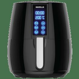 Havells Prolife Digi 4 Litres Electric Air Fryer (Rapid Air Technology, GHCAFBXK123, Black/Silver)_1
