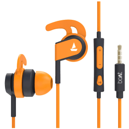 Boat BassHeads 242 In-Ear Wired Earphone with Mic (HD Inspirational Sound, Orange)_1