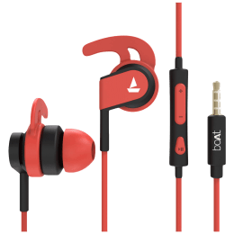 Boat BassHeads 242 In-Ear Wired Earphone with Mic (HD Inspirational Sound, Red)_1
