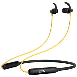 boAt Rockerz 335 In-Ear Wireless Earphone with Mic (Bluetooth 5.0, Voice Assistant Support, Blazing Yellow)_1