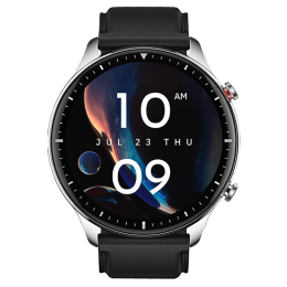 Amazfit GTR 2 Classic Edition Smart Watch (GPS, 47mm) (Always-on AMOLED Display, A1952, Silvery Black, Quick Release Silicone & Leather Strap)_1