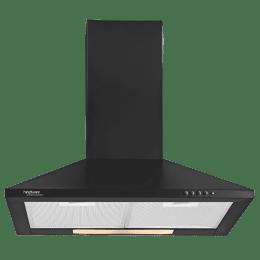 Hindware Clara Neo 700 m3/hr 60cm Designer Chimney (Aluminum Cassette Filter, 518662, Black)_1