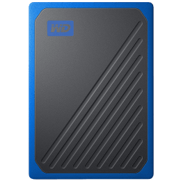 Western Digital My Passport Go 500GB USB 3.0 Solid State Drive (Compact and Integrated, WDBMCG5000ABT-WESN, Black/Cobalt Trim)_1