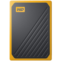 Western Digital My Passport Go 500GB USB 3.0 Solid State Drive (Compact and Integrated, WDBMCG5000ABT-WESN, Black/Amber Trim)_1