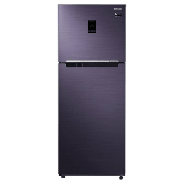 Samsung 394 Litres 3 Star Frost Free Digital Inverter Double Door Refrigerator (Stabilizer Free Operation, RT39M5538UT/TL, Pebble Blue)_1