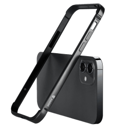 Raegr Edge Armor Aluminium Alloy / PC / TPU Bumper Case For iPhone 12 Mini (Supports MagSafe Wireless Charging, RG10178, Black)_1