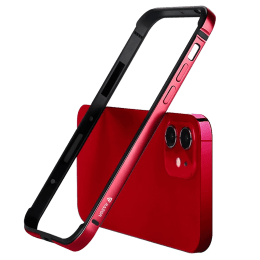 Raegr Edge Armor Aluminium Alloy / PC / TPU Bumper Case For iPhone 12 Mini (Supports MagSafe Wireless Charging, RG10193, Red)_1