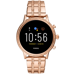 Fossil Gen 5 Julianna HR Smart Watch (GPS, 44 mm) (Water Resistance, FTW6035, Black/Rose Gold, Stainless Steel)_1