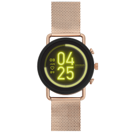 Skagen Gen 5 Falster 3 Smart Watch (GPS, 42 mm) (Full Color Display, SKT5204, Black/Rose Gold, Stainless Steel)_1
