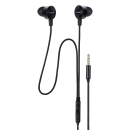 Croma In-Ear Wired Earphones with Mic (CREA7301, Black)_1