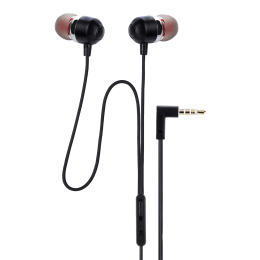 Croma In-Ear Wired Earphones with Mic (CREA7302, Black)_1