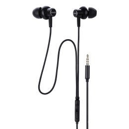 Croma In-Ear Wired Earphones with Mic (CREA7303, Black)_1
