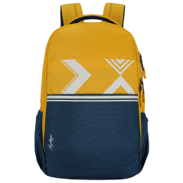 Skybags Strider 04 30 Litres 900D Polyester Backpack (In-Built Rain Cover, BPSTRD4HYLW, Yellow/Blue)_1
