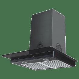 Faber Hood Super 3D Plus Max T2S2 BK TC 60 1350 m³/hr 60cm Wall Mount Chimney (3 Layer Baffle Filter, 325.0629.066, Black/Silver)_1