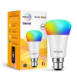 Wipro 9 Watts Electric Powered Smart LED Bulb (810 Lumens, NS9300, Multicolor)_1