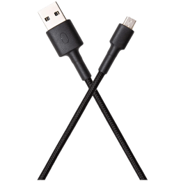 Xiaomi Mi Braided Aramid Fiber 1 Meter USB 2.0 (Type-A) to Micro USB 2.0 (Type-B) Power/Charging USB Cable (Fast Charging Compatible, SJV4128IN, Black)_1
