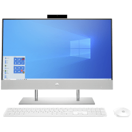 HP 24-dp0817in Bundle (22X62AA) Core i3 10th Gen Windows 10 Home All-in-One Desktop (8GB RAM, 512GB SSD, Intel UHD 630 Graphics, 60.45cm (23.8 Inches), Natural Silver)_1