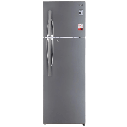 LG 360 Litres 2 Star Frost Free Inverter Double Door Refrigerator (Convertible Function, GL-S402RPZY.DPZZEB, Shiny Steel)_1