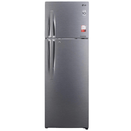 LG 360 Litres 2 Star Frost Free Inverter Double Door Refrigerator (Convertible Function, GL-S402RDSY.DDSZEB, Dazzle Steel)_1