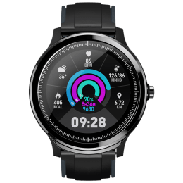 Crossbeats Smart Watch (GPS, 40mm) (Scientific Detection, CB-ACE, Black/Black Steel Grey, Silicon)_1