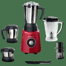 Bosch TrueMixx Radiance 600 Watts 4 Jars Mixer Grinder (Stone Pounding Technology, MGM4344RIN, Red)_1