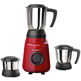 Bosch TrueMixx Joy 500 Watts 3 Jars Mixer Grinder (Overload Protector, MGM2133RIN, Red)_1