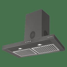 Faber Stilo Slim 3D Plus 1150m³/hr 60cm Wall Mount Chimney (Baffle Filter, T2S2 BK LTW 60, Black)_1
