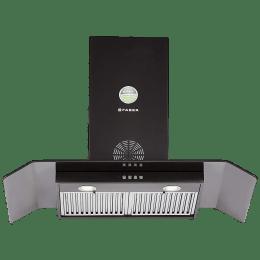 Faber Arco 3D Plus 1150 m³/hr 90cm Wall Mount Chimney (Baffle Filter, T2S2 BK LTW 90, Black)_1