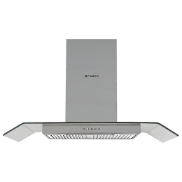 Faber Arco 3D 1050 m³/hr 90cm Wall Mount Chimney (Baffle Filter, T2S2 BK LTW 90, Stainless Steel)_1