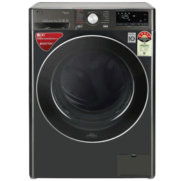 LG 7 kg 5 Star Fully Automatic Front Load Washing Machine (AI Direct Drive Technology, FHV1207ZWB, Black Steel)_1
